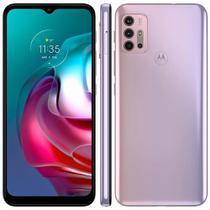 Smartphone Motorola Moto G30 128GB Câmera Quádrupla 64MP 8MP 2MP 2MP Android 11 White Lilac