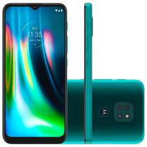 Smartphone Motorola Moto G9 Play, 64GB, 48MP, Tela 6.5, Verde Turquesa + Capa Protetora - XT2083-1