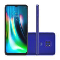 "Smartphone Motorola Moto G9 Play 64GB 4GB RAM Câmera Tripla 48MP Tela 6.5"" - Azul Safira"
