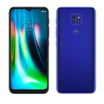 "Smartphone Motorola Moto G9 Play, Azul Safira,Tela 6.5"", 4G+Wi-Fi, Android 10,3 Câm Traseira 48/2/2MP, Frontal 8MP,64GB"