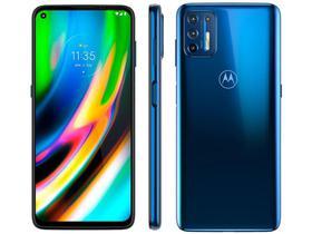 "Smartphone Motorola Moto G9 Plus 128GB Azul - Octa-Core 4GB RAM 6,8"" Câm. Quádrupla+Selfie 16MP"
