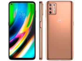 "Smartphone Motorola Moto G9 Plus 128GB Ouro Rosê - Octa-Core 4GB RAM 6,8"" Câm. Quádrupla + Selfie 8M"