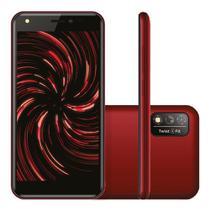 "Smartphone Positivo Twist 4 Fit S509N 32GB Dual Chip Tela 5"" 3G WiFi Câmera 8MP Vermelho"