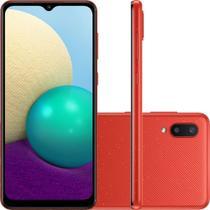 Smartphone Samsung Galaxy A02 32GB 2GB RAM 4G Wi-Fi Câmera Dupla + Selfie 5MP Tela 6.5'' Vermelho