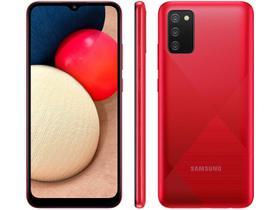 """Smartphone Samsung Galaxy A02s Vermelho 32GB, Tela Infinita de 6.5"""", Câmera Tripla, bateria 5000mAh, 3GB RAM e Processador Octa-Core"""