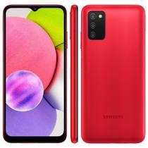 """Smartphone Samsung Galaxy A03s Vermelho 64GB 4GB RAM Tela Infinita de 6.5"""" Câmera Tripla Processador Octa-Core Dual Chip"""