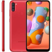 "Smartphone Samsung Galaxy A11, 6,4"", 32 GB, Câmera Tripla, Vermelho"