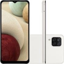 Smartphone Samsung Galaxy A12 64GB 4G Wi-Fi Tela 6.5'' Dual Chip 4GB RAM Câmera Quádrupla - Branco