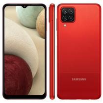 """Smartphone Samsung Galaxy A12 64GB 4GB RAM Câmera Quádrupla Tela Infinita 6.5"""" Dual Chip Vermelho"""