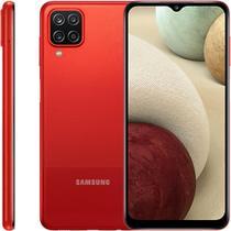 """Smartphone Samsung Galaxy A12, 6,5"""", 64 GB, Câmera Quádrupla - Vermelho"""