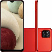 """Smartphone Samsung Galaxy A12 Android Tela 6,5"""" 64GB 4GB RAM Octa Core 4G Dual Chip Câmera Quádrupla 48MP Selfie 8MP - Vermelho"""