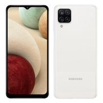 """Smartphone Samsung  Galaxy A12 Câmera Quádrupla Traseira Selfie de 8MP Tela Infinita de 6.5"""" 64GB 4GB RAM OctaCore Bateria de 5000mAh Dual Chip Branco"""