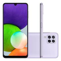 """Smartphone Samsung Galaxy A22 Câmera Traseira Quádrupla Selfie de 13MP Tela Infinita de 6.4"""" 128GB 4GB RAM Octa Core Dual Chip Violeta"""