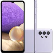 """Smartphone Samsung Galaxy A32 128GB 5G - Violeta, Câmera Quadrupla 48MP + Selfie 13MP, RAM 4GB, Tela 6.5"""""""