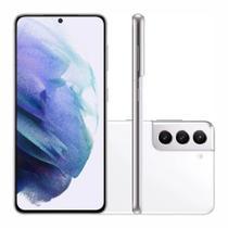 "Smartphone Samsung Galaxy S21 128GB 5G - Branco, Câmera Tripla 64MP + Selfie 10MP, RAM 8GB, Tela 6.2"""