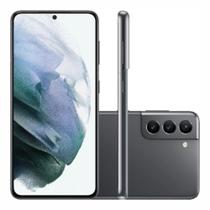 "Smartphone Samsung Galaxy S21 128GB 5G - Cinza, Câmera Tripla 64MP + Selfie 10MP, RAM 8GB, Tela 6.2"""