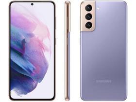 "Smartphone Samsung Galaxy S21 128GB 5G - Violeta, Câmera Tripla 64MP + Selfie 10MP, RAM 8GB, Tela 6.2"""