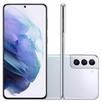 "Smartphone Samsung Galaxy S21 Plus Tela Infinita de 6.7"" 128GB 8GB RAM Câmera Tripla Traseira Prata"