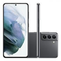 "Smartphone Samsung Galaxy S21 Tela Infinita de 6.2"" 128GB 8GB RAM Câmera Tripla Traseira Cinza"