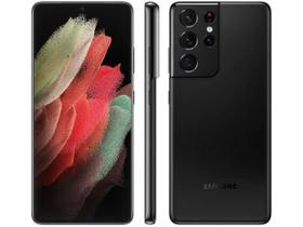 "Smartphone Samsung Galaxy S21 Ultra 256GB 5G - Preto, Câmera 108MP + Selfie 40MP, RAM 12GB, Tela 6.8"""
