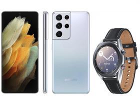 Smartphone Samsung Galaxy S21 Ultra 256GB Prata 5G