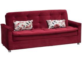 Sofá-cama Casal 3 Lugares Reclinável Veludo