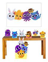 Super Kit Bolofofos Decoração Totem Displays + Painel
