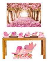 Super Kit Jardim Encantado Decoração Totem Displays + Painel