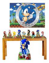 Super Kit Sonic Decoração Totem Displays + Painel