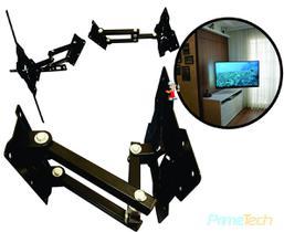 Suporte Para Tv Articulado 4 movimentos Lcd, Led, Plasma, oLed, smart, 4k 3D e QLed De 22 A 65