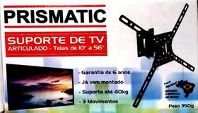 Suporte para TV Articulado LCD LED 10 a 56 3 Posições Curto