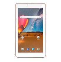 """Tablet com capa Multilaser M7 3G plus + 7"""" 16GB RAM 1GB Rosa"""