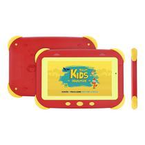 """Tablet DL Kids Adventure, Android, Tela 7"""", 8GB/1GB, WiFi, Câmera, Proteção de impacto, Vermelho"""