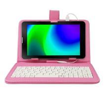 "Tablet Multilaser M7 32gb 3G Função Celular Dual Chip 1GB RAM 7"" Polegadas LCD Nb360 + Capa Teclado Galaxy"