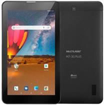 "Tablet Multilaser M7 Plus NB304 Preto com 16GB, Tela 7"", 3G, Wi-Fi, Dual Câmera, Android 8.1"