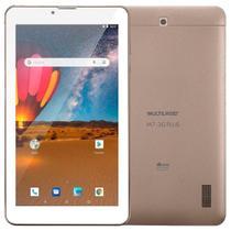 "Tablet Multilaser M7 Plus NB306, Dourado, Tela 7"", 3G+Wi-Fi, Bluetooth, Android 10, 2MP, 16GB"