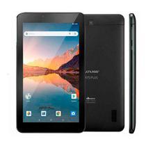 """Tablet Multilaser M7S Plus Quad Core 1GB RAM Android 8.1 GO Dual Cam 1.3/2MP Tela 7"""" 32GB - Preto"""