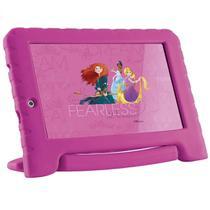 Tablet Multilaser Princesas Plus Rosa Quad Core 1GB RAM Android 8.1 GO Dual Câm  7 pol 16GB NB308
