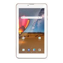 Tablet Rosa Rose M7 3G Plus 16GB Multilaser Android 8 Dual Chip Bluetooth WIFI 7 polegadas