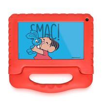 "Tablet Turma da Mônica Wi Fi Tela 7"" 16GB Quad Core Vermelho - NB341 Multilaser"
