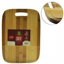 Tábua de Corte de Bambu com Alça 34x24cm