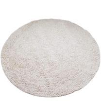 Tapete algodão par Sala/Quarto - Redondo - 1,50 x 1,50 - Cor Cru
