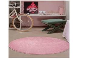 Tapete classic redondo 100 rosa bebe - 20901