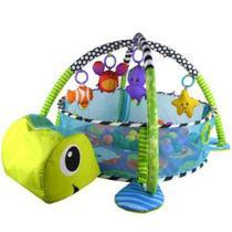 Tapete De Atividades Para Bebê Com Piscina De Bolinha Tartaruga Color Baby