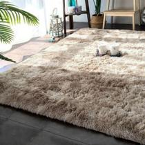 Tapete para Sala com Pele de Carneiro Artificial Formato Retangular 2,00x1,40cm Casen