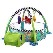 Tapete Piscina De Bolinhas Infantil 3 Em 1 Tartaruga