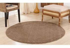 Tapete redondo 2,00 x 2,00 quarto sala escritorio loja 100% antiderrapante pelo macio classic oasis