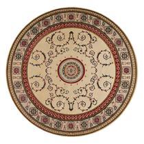 Tapete Redondo Veludo Marbella Çagdas II Creme 150x150 cm