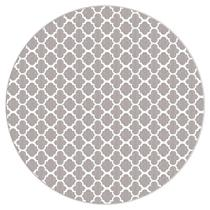 Tapete Saturs Delhi Indiano Redondo Cinza 200 cm Tapete para Sala e Quarto