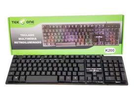 Teclado Multimídia Retroiluminado TekOne Magic K200